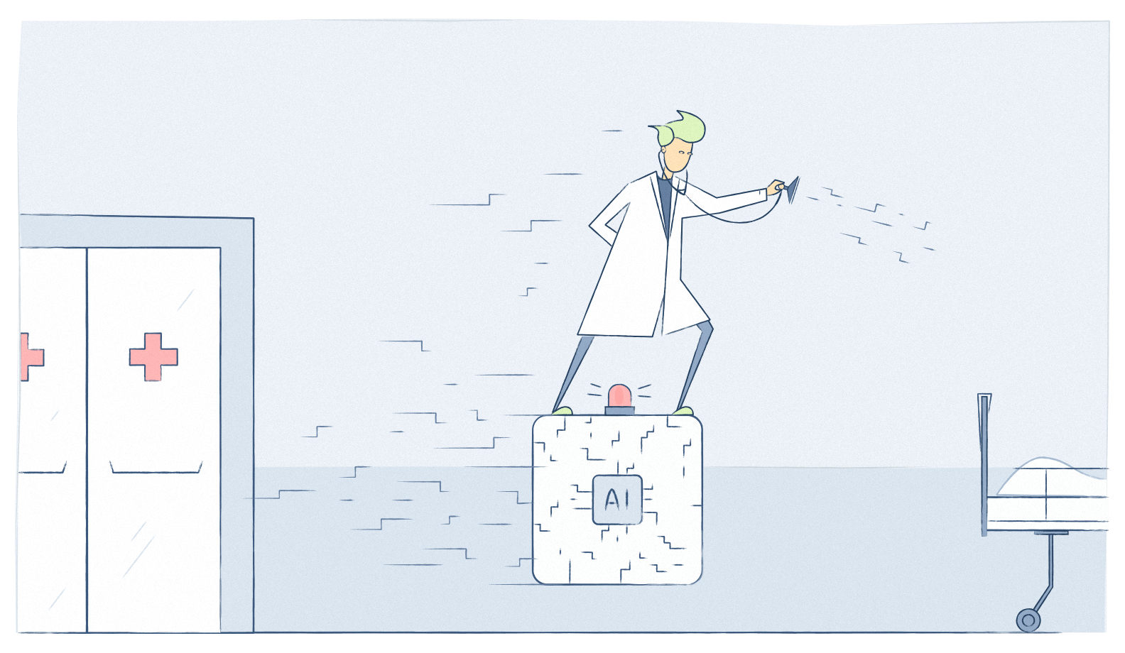Illustration: AI supporting a physician