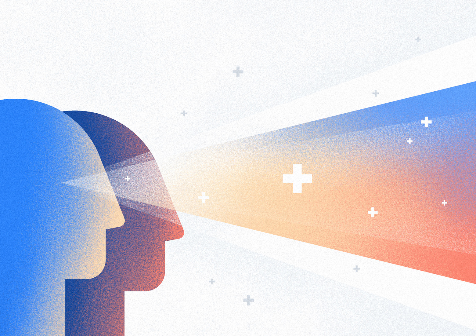 Digital healthcare solutions represent a new gateway to existing healthcare services. Illustration by Aga Więckowska.